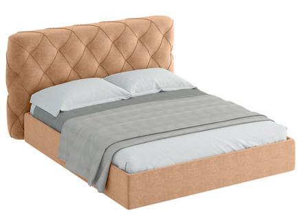 Кровать ember (ogogo) бежевый 209x113x237 см.