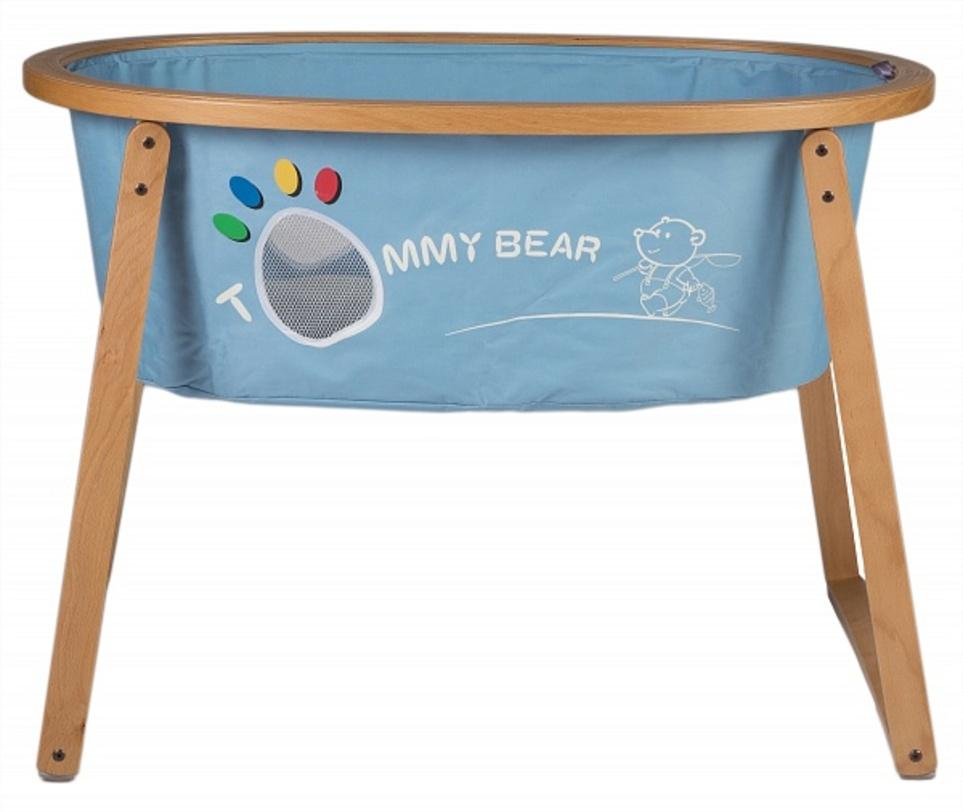 Кровать детская Sleep up natural with blue textileКолыбели<br><br><br>Material: Текстиль<br>Ширина см: 102<br>Высота см: 74<br>Глубина см: 68