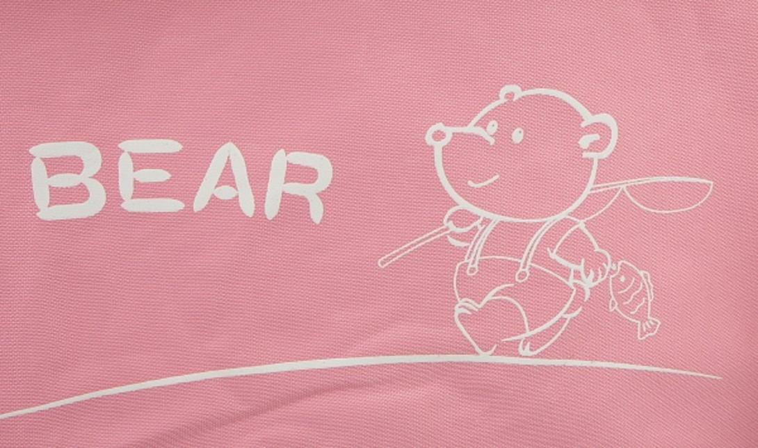 """Кровать детская """"Sleep up natural with pink textile"""" от The Furnish"""