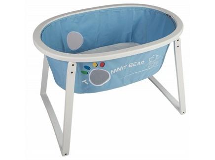 Кровать детская sleep up white blue textile (m-style) голубой 102x74x68 см.