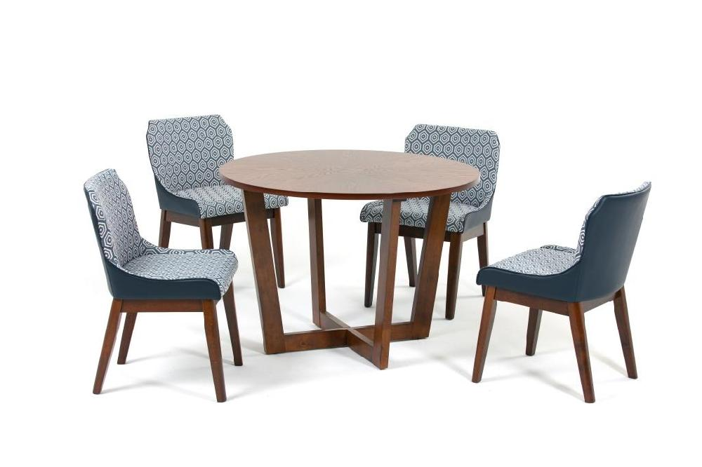 Комплект обеденный (стол borneo + 4 кресла rebak) (ecodesign) синий 110.0x75.0x110.0 см.