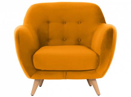 Кресло loa (ogogo) желтый 98x85x77 см.
