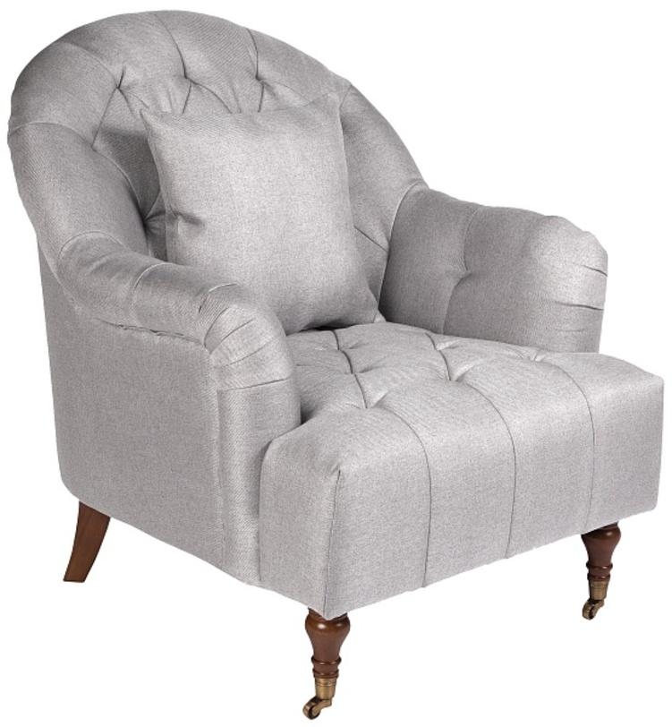 Кресло LavenКресла с высокой спинкой<br>Красивое и удобное кресло Laven с широким сиденьем, округлой спинкой, мягкими подушками подойдет для оформления уютных домашних помещений - гостиной и спальни. Для удобства перемещения передние ножки оснащены небольшими колесиками, а украшено кресло классической каретной стежкой. Кресло подойдет для оформления классических и современных интерьеров.<br><br>Material: Текстиль<br>Length см: None<br>Width см: 83<br>Depth см: 97<br>Height см: 93