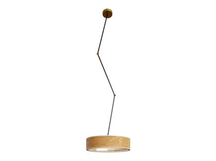 Светильник юпитер (woodled) коричневый