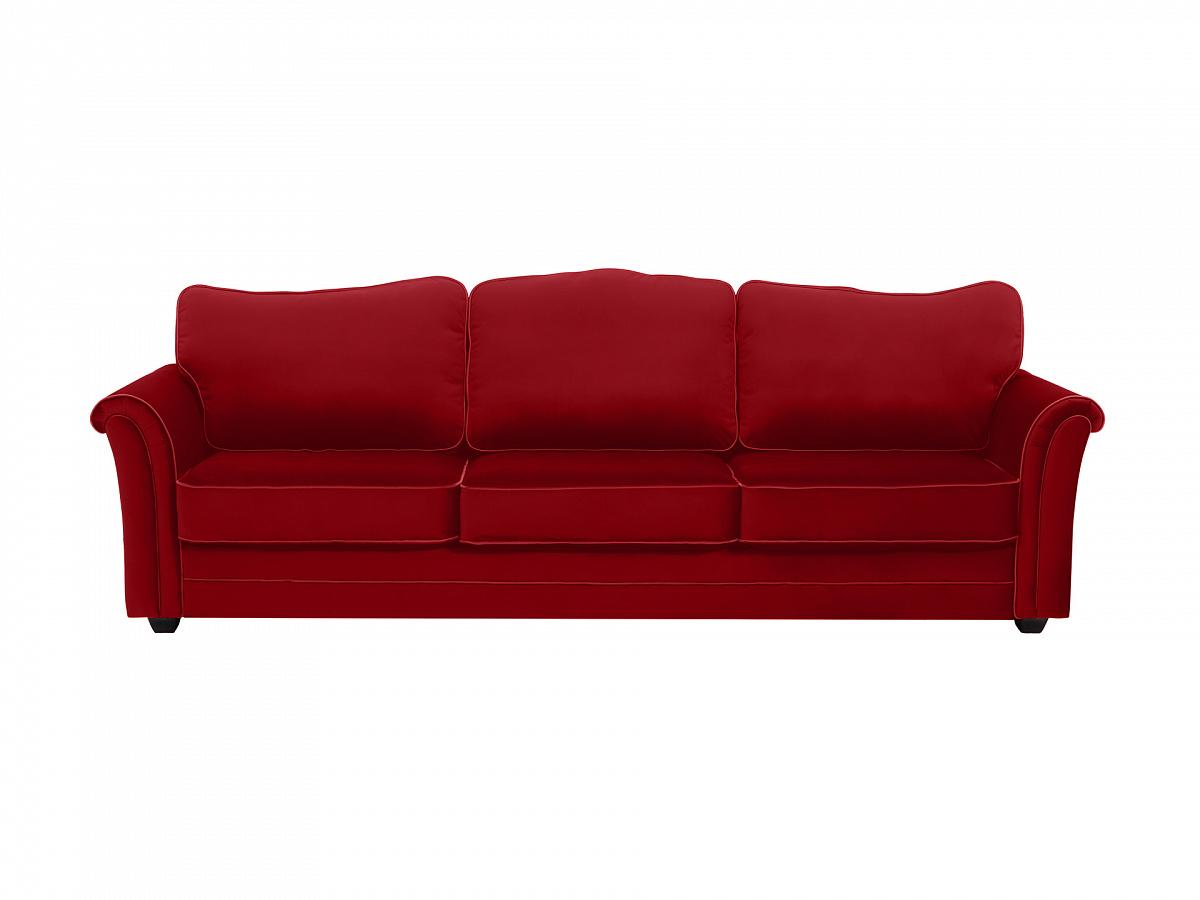 Ogogo диван трехместный sydney красный 112623/8