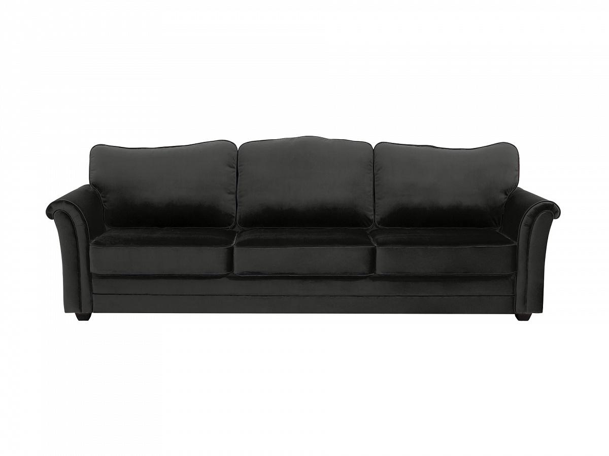 Ogogo диван трехместный sydney черный 112627/9