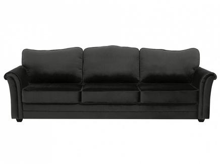 Диван трехместный sydney (ogogo) черный 283x97x103 см.