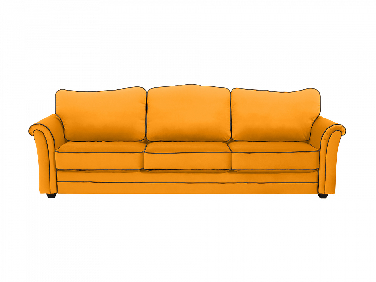 Ogogo диван трехместный sydney желтый 112632/112657