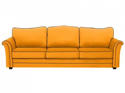 Диван трехместный sydney (ogogo) желтый 283x97x103 см.