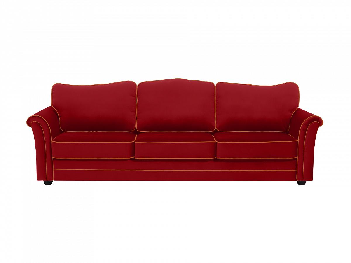 Ogogo диван трехместный sydney красный 112642/3