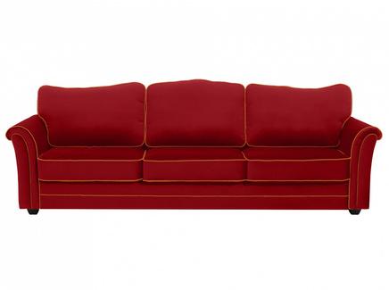 Диван трехместный sydney (ogogo) красный 283x97x103 см.