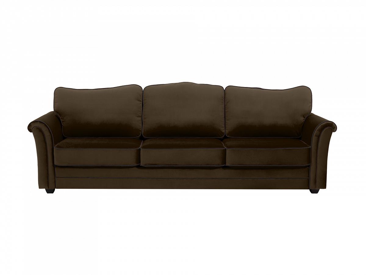 Ogogo диван трехместный sydney коричневый 112651/5