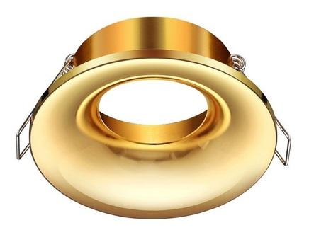 Встраиваемый светильник metis (novotech) золотой