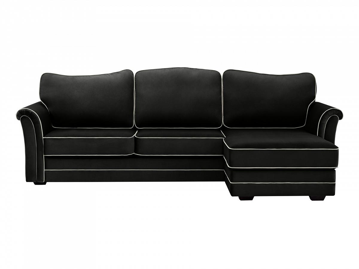 Ogogo диван sydney черный 112961/113013
