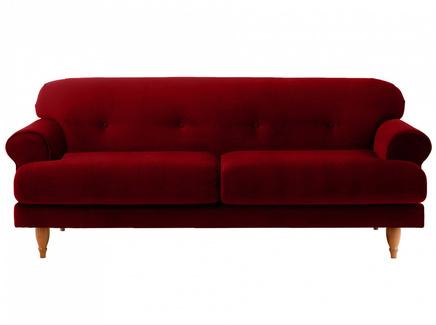 Диван italia (ogogo) красный 197x79x98 см.