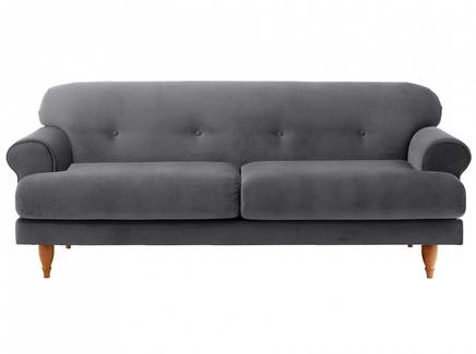 Диван italia (ogogo) серый 197x79x98 см.