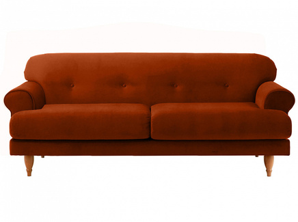 Диван italia (ogogo) коричневый 197x79x98 см.