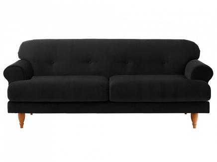 Диван italia (ogogo) черный 197x79x98 см.