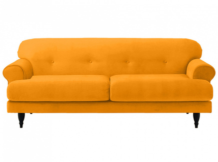 Диван italia (ogogo) желтый 197x79x98 см.