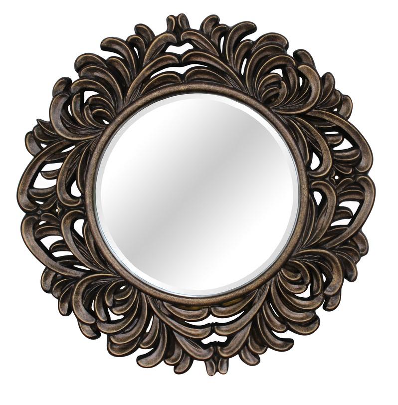 Зеркало Palm GoldНастенные зеркала<br>Роскошное зеркало в великолепной раме цвета черненого золота украсит вашу спальню, гостиную, прихожую. Зеркало отлично впишется в пространство над камином, консолью или комодом. Идеально для помещений в стиле ар-деко.<br><br>Цвет: черненое золото<br>Материал: полиуретан<br><br>Material: Стекло<br>Length см: None<br>Width см: None<br>Depth см: None<br>Height см: None<br>Diameter см: 104.0