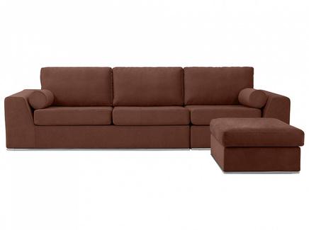 Диван igarka (ogogo) коричневый 300x73x180 см.