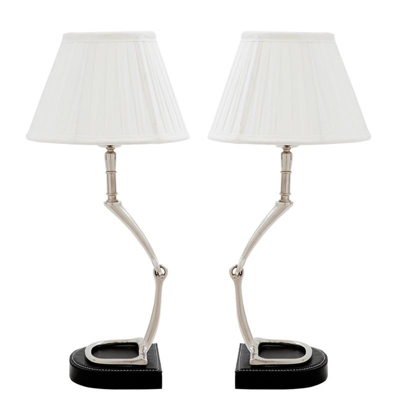 Набор ламп ЭдораблДекоративные лампы<br>Этот набор из двух настольных ламп - отличный вариант для оформления парных поверхностей в интерьере - например, прикроватных тумб в спальне, но так же можно установить по двум сторонам комода, камина, консоли. Лампы с оригинальным основанием из металла со вставками из натуральной кожи и классическими белоснежными абажурами отлично впишутся в современно оформленные пространства.&amp;amp;nbsp;&amp;lt;div&amp;gt;&amp;lt;br&amp;gt;&amp;lt;/div&amp;gt;&amp;lt;div&amp;gt;Цена указана за одну лампу. Набор из 2 ламп<br>Материал: металл, натуральная кожа&amp;lt;/div&amp;gt;<br><br>Material: Металл<br>Width см: 13<br>Height см: 44<br>Diameter см: 21