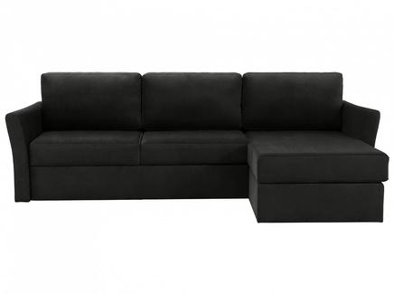 Диван peterhof (ogogo) черный 282x88x170 см.
