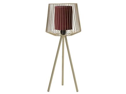 Лампа настольная navan (to4rooms) золотой 24x50x24 см.