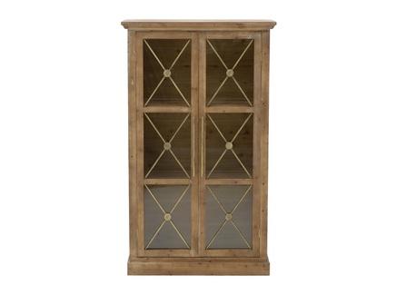 Шкаф-витрина guard (to4rooms) коричневый 76x129x33 см.