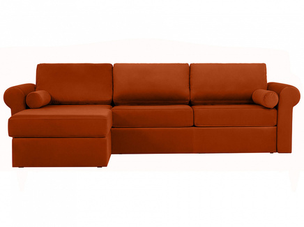 Диван peterhof (ogogo) коричневый 282x88x170 см.