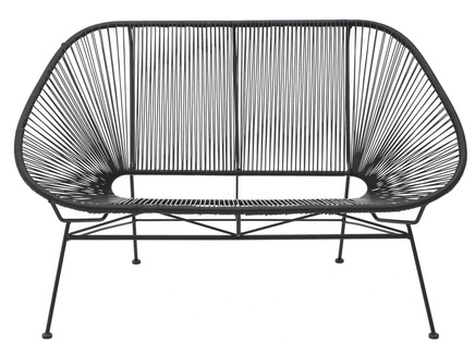 Диван-скамья terneuzen (to4rooms) черный 90x80 см.