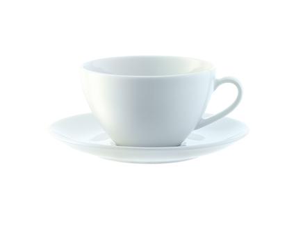 Набор из 4 чашек с блюдцем dine (lsa international) белый 16x6x16 см.