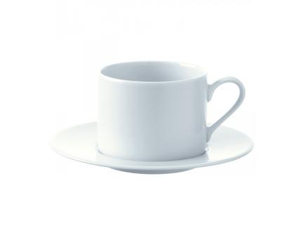 Набор из 4 чашек с блюдцем dine (lsa international) белый 16x7x16 см.