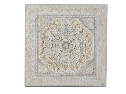 Картина на подрамнике farsil (to4rooms) серый 100x100x2 см.