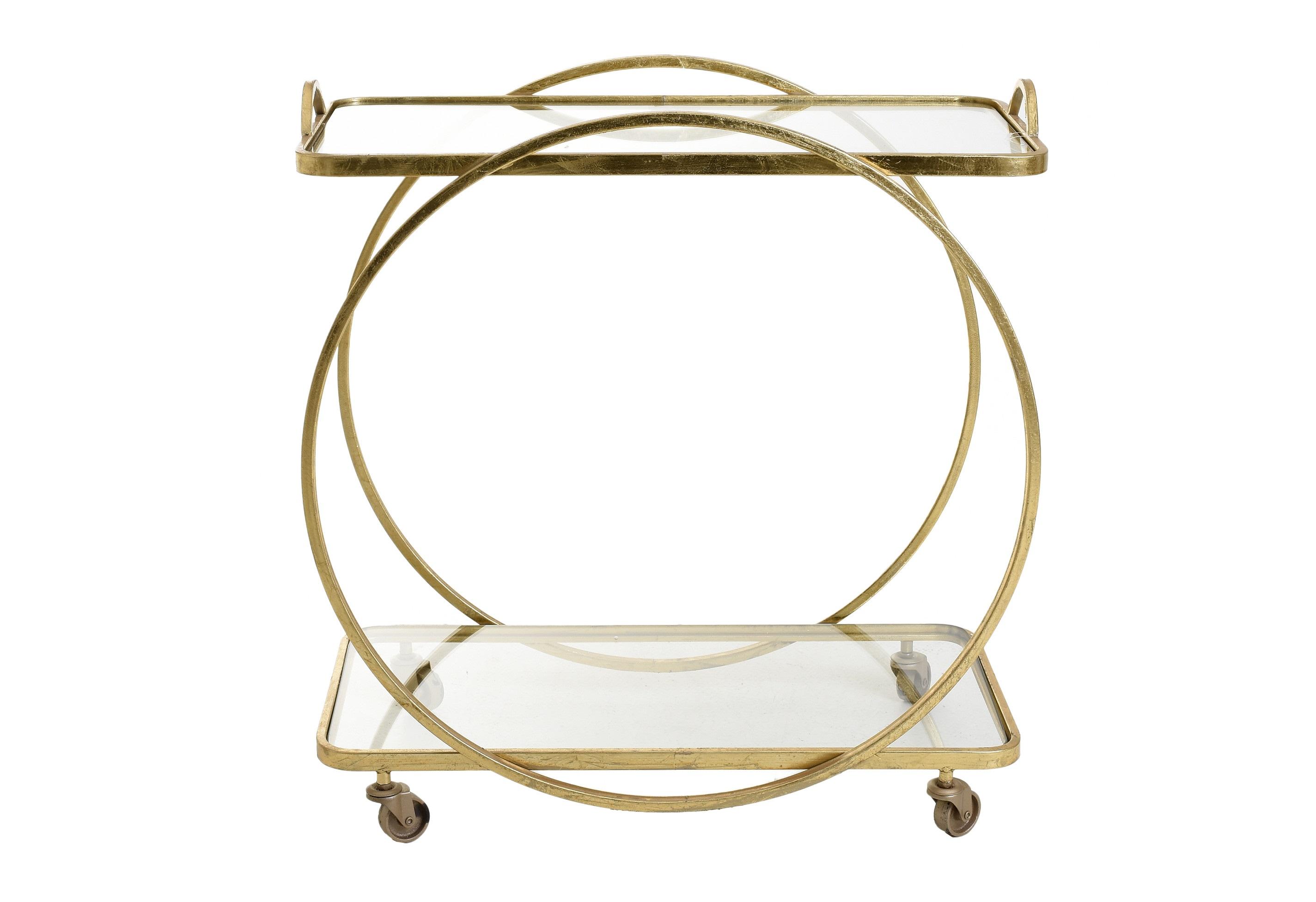 Стол-поднос на колесах stavanger (to4rooms) золотой 71x74x38 см.