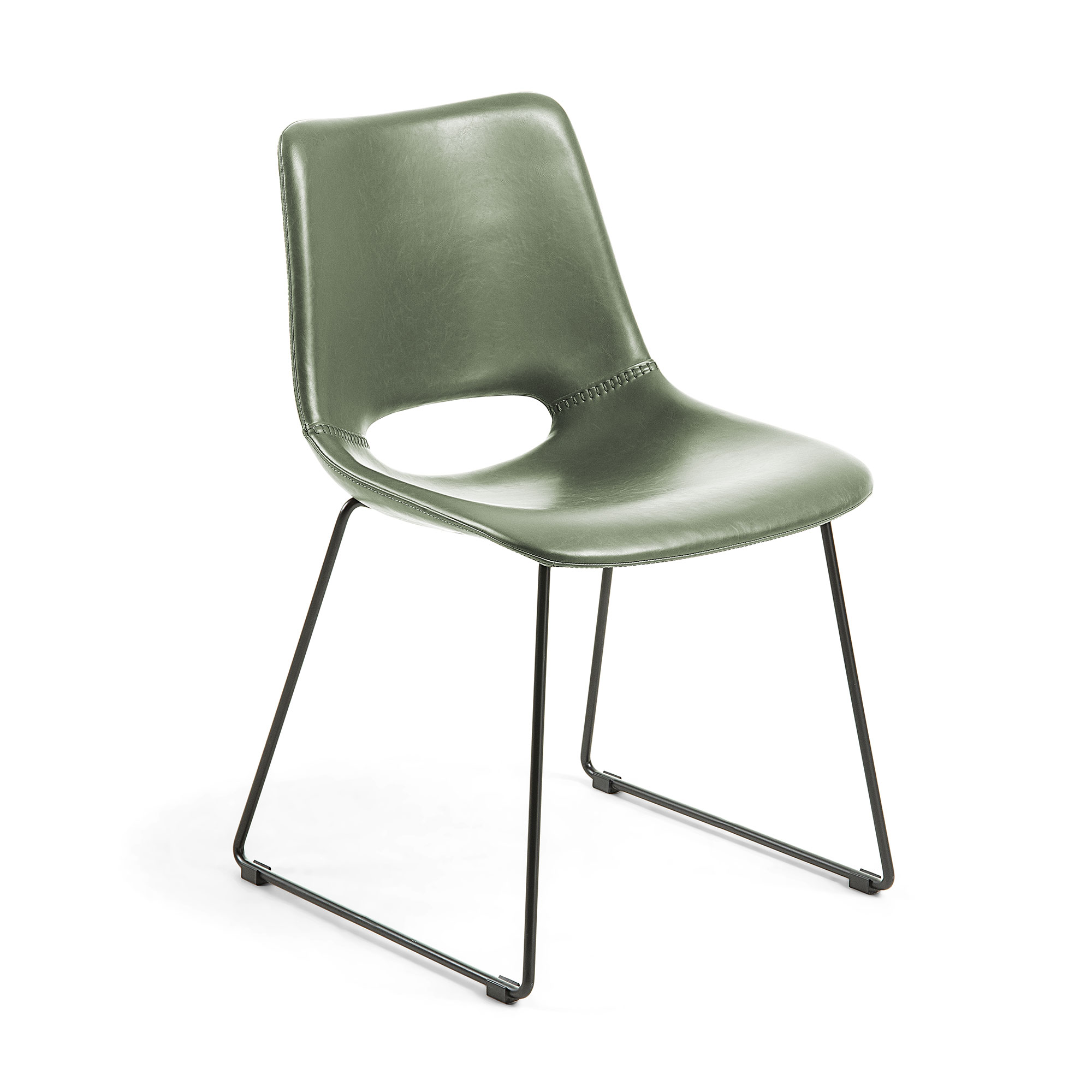 Стул ziggy (la forma) зеленый 49x78x55 см.