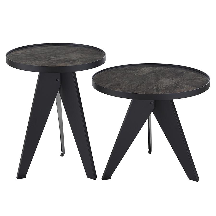 Набор кофейных столиков сarrero (2 шт.) (berg) серый