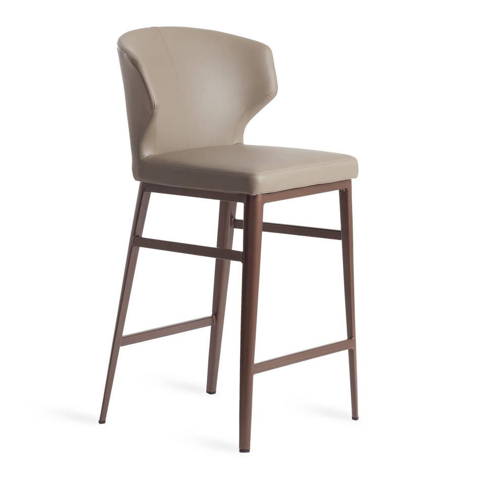 Барный стул vison (angel cerda) бежевый 53x62x46 см.