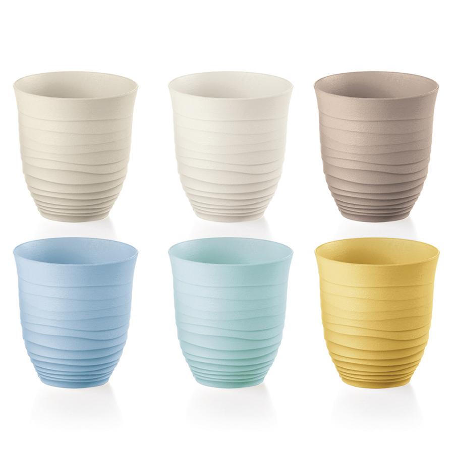 Набор из 6 стаканов tierra (guzzini) мультиколор
