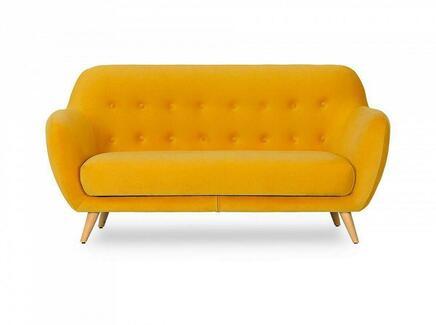 Диван двухместный loa (ogogo) желтый 175x85x80 см.