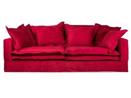 Диван norbiton (desondo) красный 240x90x140 см.