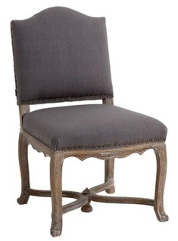 Стул VirginieОбеденные стулья<br>Отделка: Дуб<br><br>Обивка: Комбинированый серый лен<br><br>Material: Лен<br>Length см: None<br>Width см: 56<br>Depth см: 64<br>Height см: 96<br>Diameter см: None