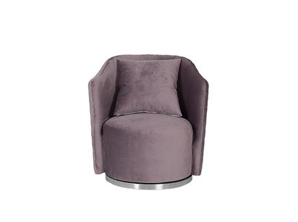 Кресло verona вращающееся велюровое лиловое/хром (garda decor) фиолетовый 77.0x80.0x70.0 см.