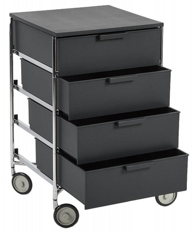 Тумба на колесиках MobilИнтерьерные тумбы<br>Тумбочка с пятью ящиками подойдет как для рабочих, так и для бытовых целей. Качественный итальянский пластик и фурнитура, а также мобильность благодаря удобным колесикам станут преимуществом в выборе этого предмета.<br><br>Material: Пластик<br>Ширина см: 49<br>Высота см: 78<br>Глубина см: 48