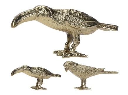 Статуэтка птица (garda decor) золотой 20x8x4 см.