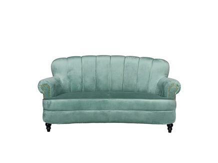 Диван двухместный велюровый мятный (garda decor) зеленый 164.0x85.0x161.0 см.