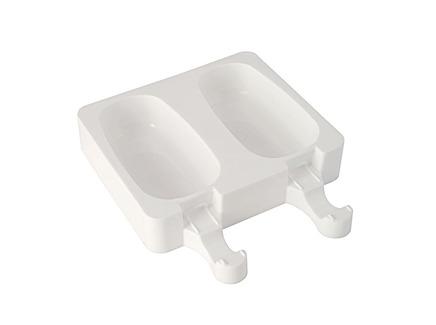 Набор из 2 силиконовых форм для приготовления мороженого classic (silikomart) белый 19x14x7 см.