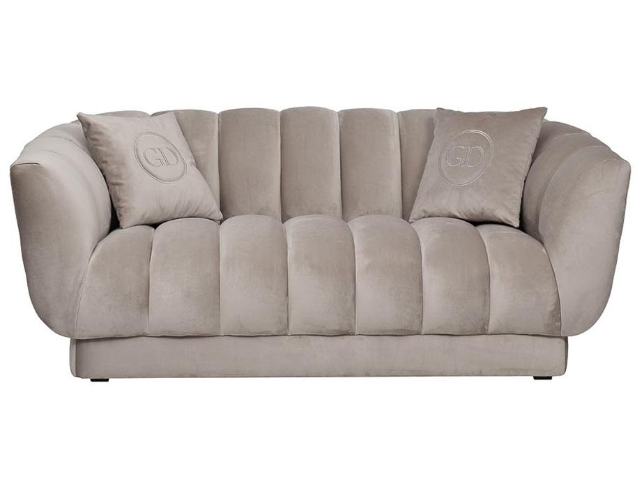 Garda decor диван двухместный fabio серый 116561/116608