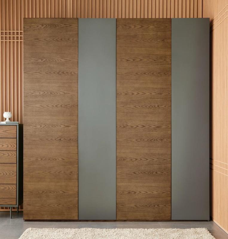 Гардероб avila (mod interiors) коричневый 220x230x61 см.