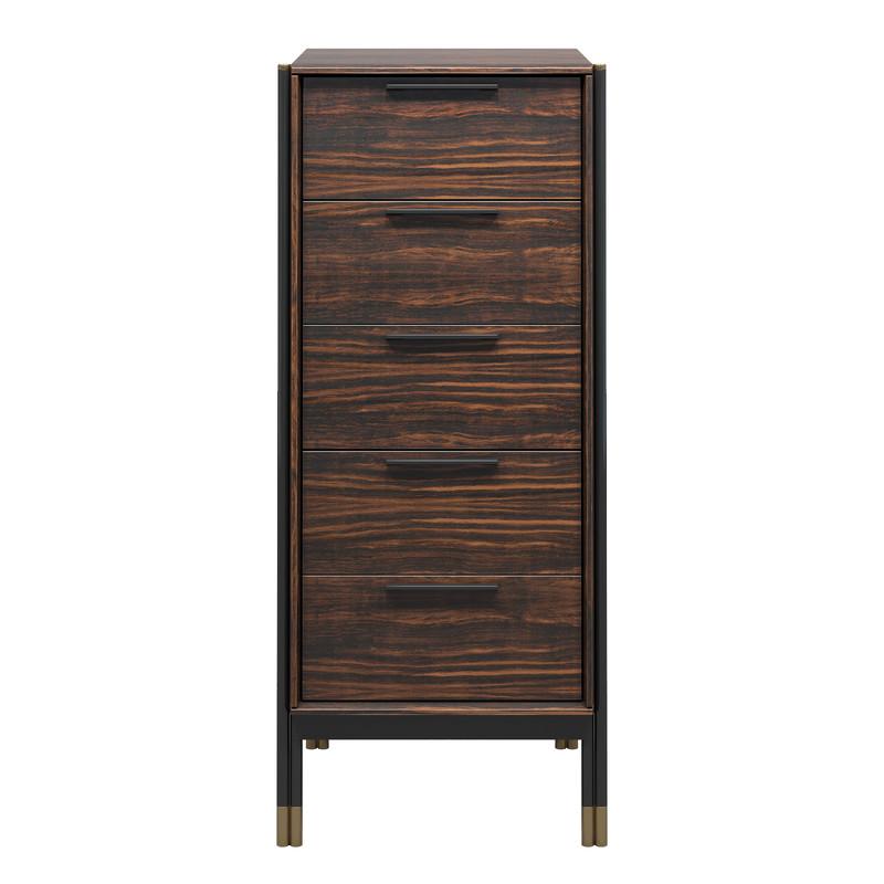 Комод высокий benissa (mod interiors) коричневый 50x118x45 см.